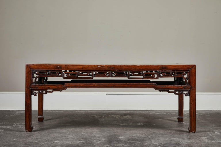 Elm 18th Century Chinese Kang Table For Sale