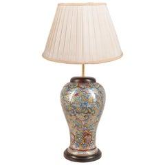 18th Century Chinese Kangxi Clobbered Vase / Lamp
