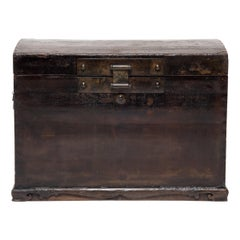 18th Century Chinese Lacquered Domed Trunk