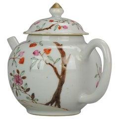 18th Century Chinese Porcelain Qianlong /Yongzheng Famille Rose Tree Teapot