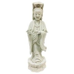 18th Century Chinese Porcelain Standing Guanyin