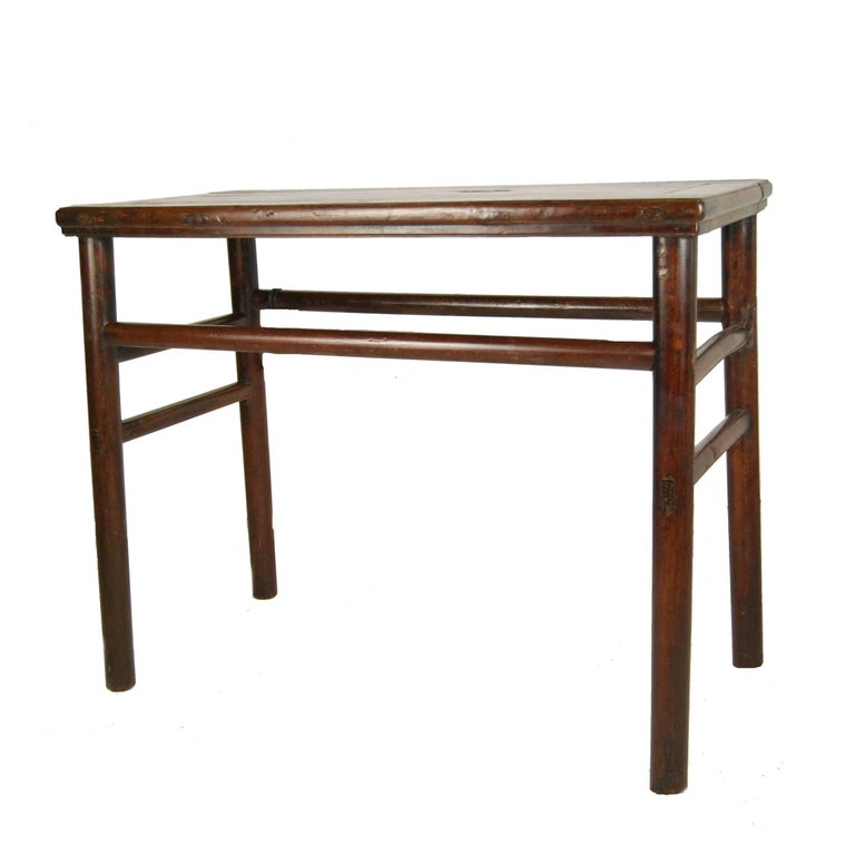 18th Century Chinese Wine Table with Simple Stretchers