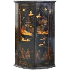 18th Century Chinoiserie Corner Cupboard England