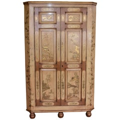 18th Century Chinoiserie Corner Cupboard