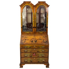 18th Century Chinoiserie Slant Front Desk