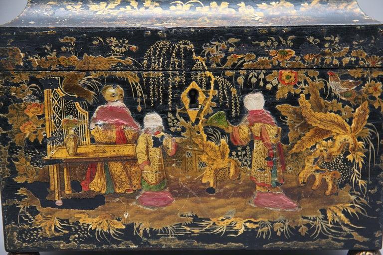 18th Century Chinoiserie Tea Caddy 4