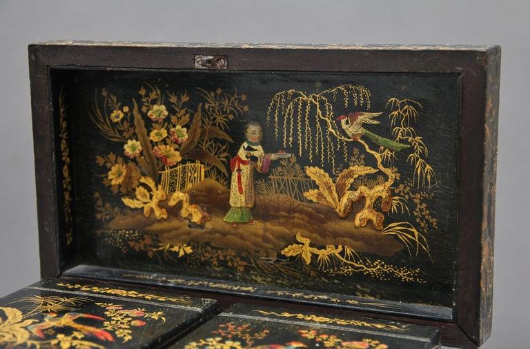 18th Century Chinoiserie Tea Caddy 5