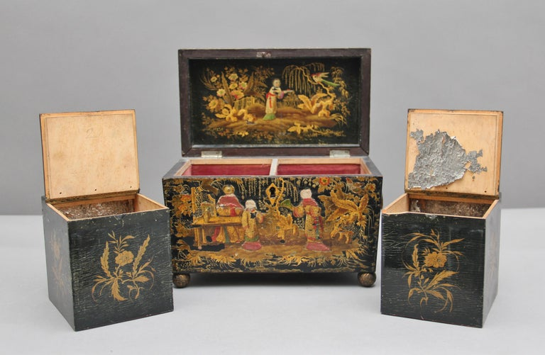 18th Century Chinoiserie Tea Caddy 7