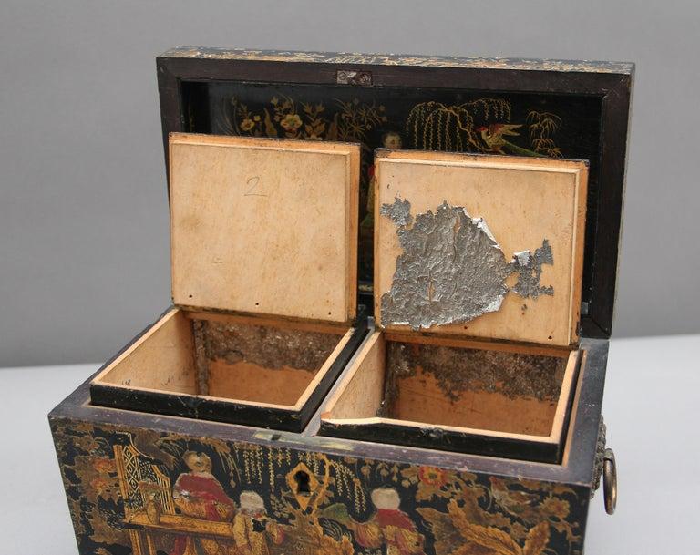 English 18th Century Chinoiserie Tea Caddy