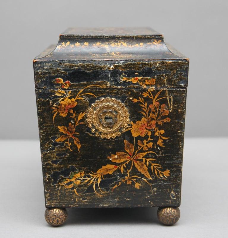 Late 18th Century 18th Century Chinoiserie Tea Caddy