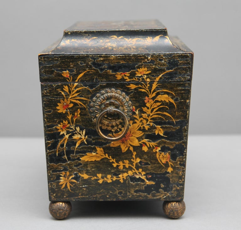 18th Century Chinoiserie Tea Caddy 1