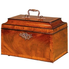 18th Century Chippendale Mahogany Tea Caddy