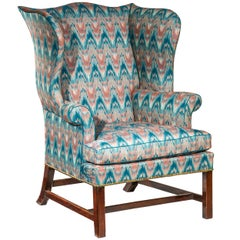 Antique Wingback Armchair, English 18th Century Chippendale
