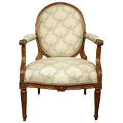 18th Century, circa 1760, Louis XVI Period Walnut Armchair