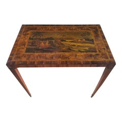 18th Century Coffee Table in Ebony, Palisander and Boxwood, Fine Inlay