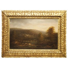 18th Century Continental Oil on Board Landscape Painting