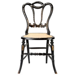 18th Century, Conversation Chair with Intarsia, Probably Spain, circa 1800