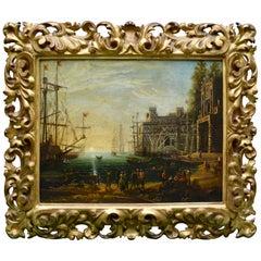 "18th Century Copy of ""Port Scene with the Villa Medici"" after Claude Lorrain"