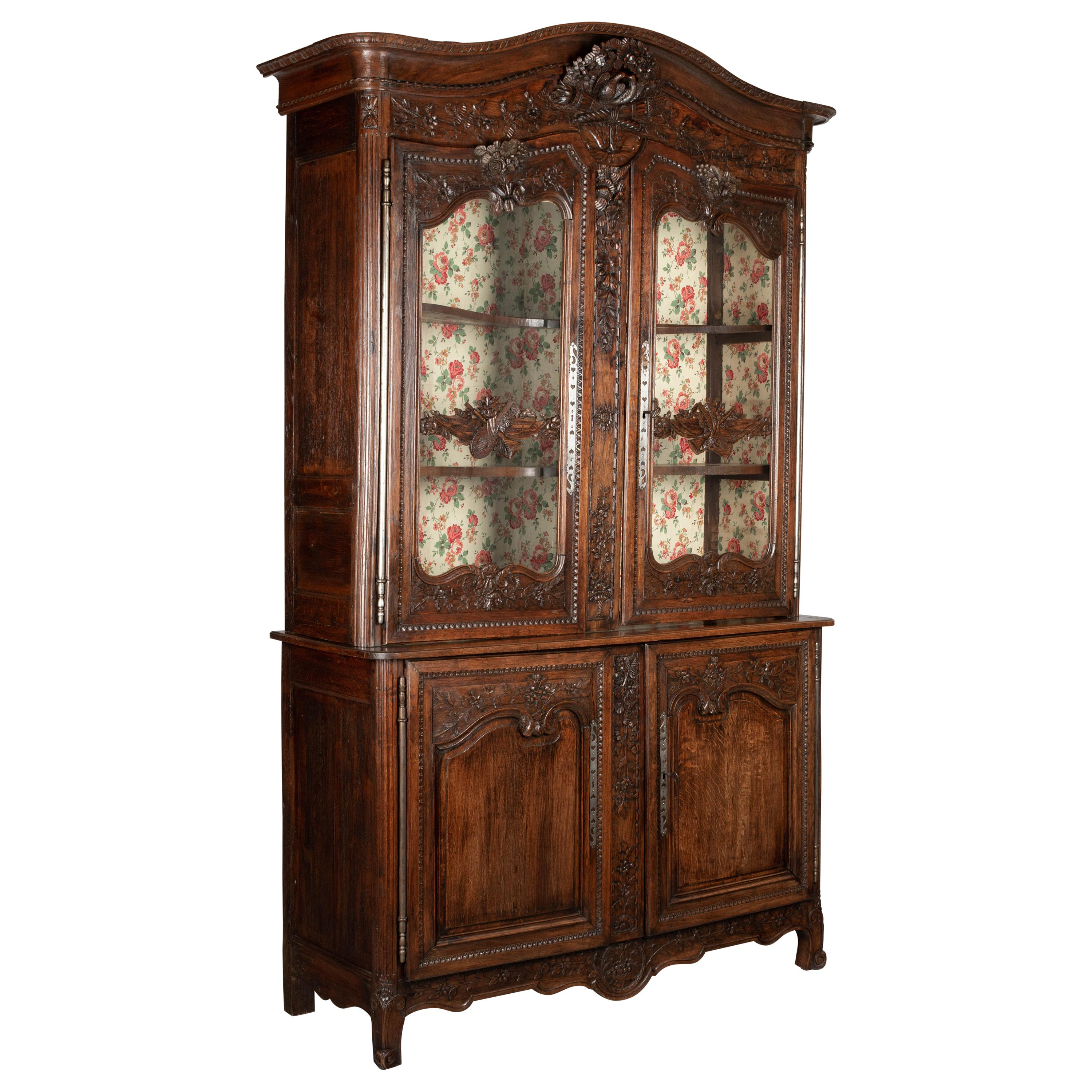 18th Century Country French Buffet À Deux Corps or Cupboard