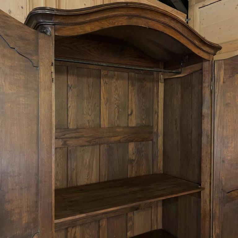 18th Century Country French Louis XV Armoire For Sale 8