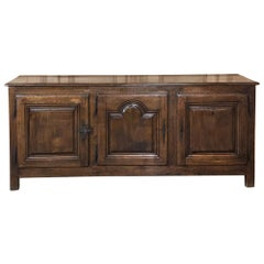 18th Century Country French Provincial Low Buffet