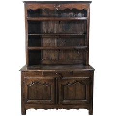 18th Century Country French Solid Oak Vaisselier, Buffet
