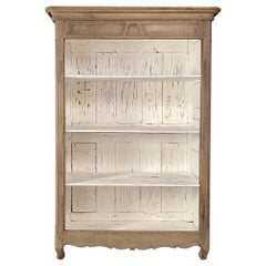 18th Century Country French Stripped Open Bookcase