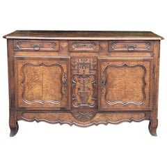 18th Century Country French Walnut Bressan Buffet