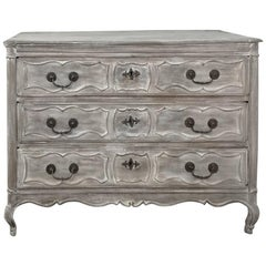 18th Century Country French Whitewashed Commode