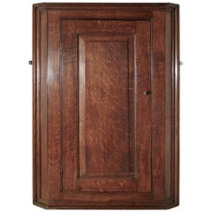 18th Century Country Oak Corner Cupboard