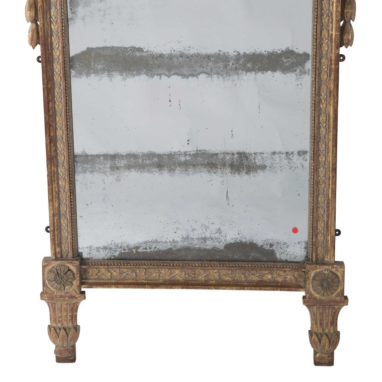 French 18th Century Crested Mirror For Sale
