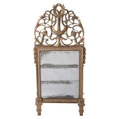 18th Century Crested Mirror