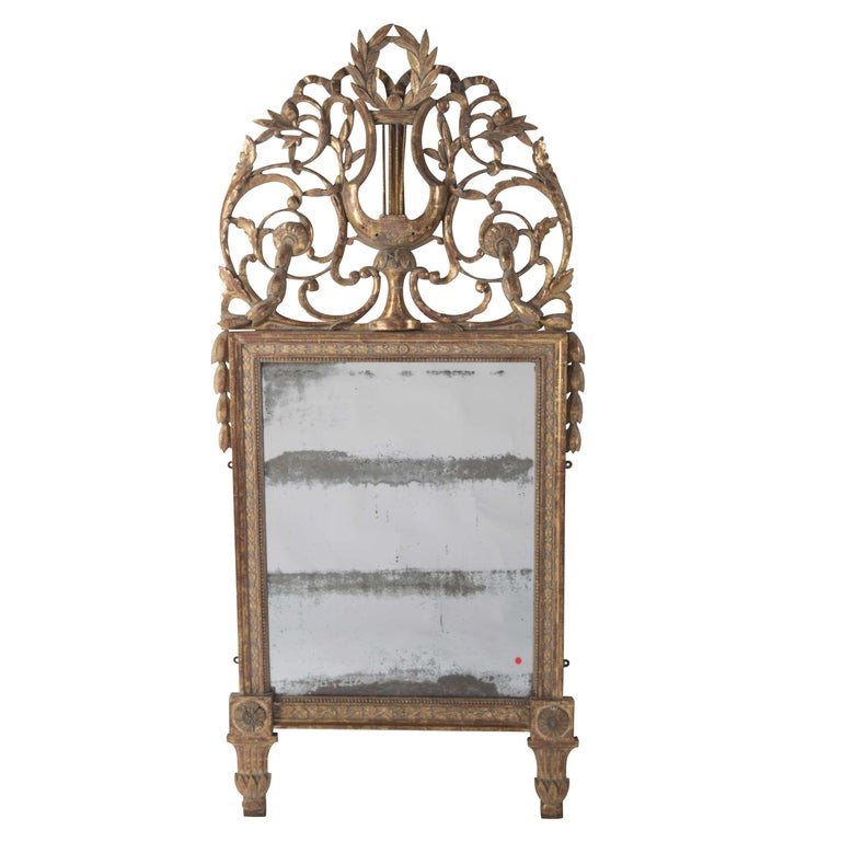 18th Century Crested Mirror For Sale