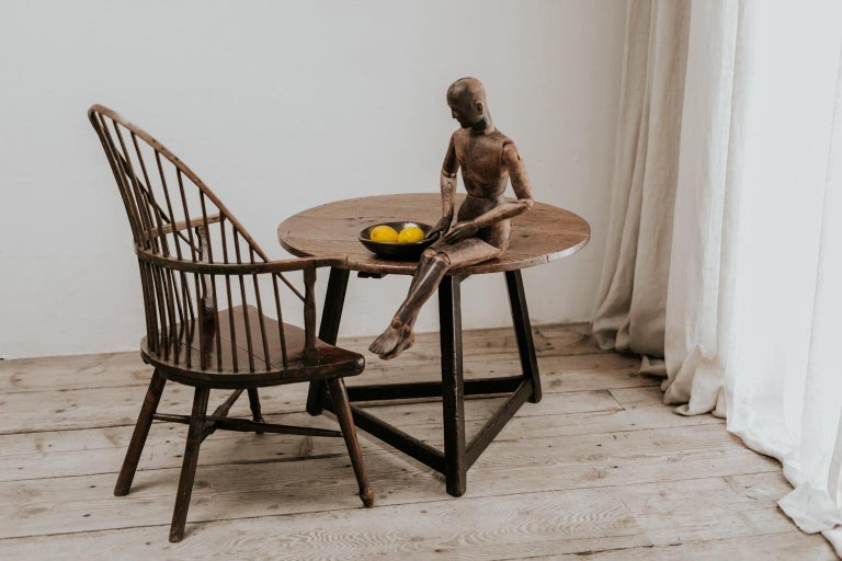 18th Century Cricket Table Beautiful Oakwood Top For Sale 4