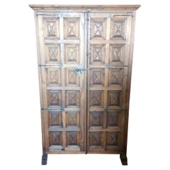 18th Century Cupboard or Cabinet, Walnut, Castillian Influence, Spain Restored
