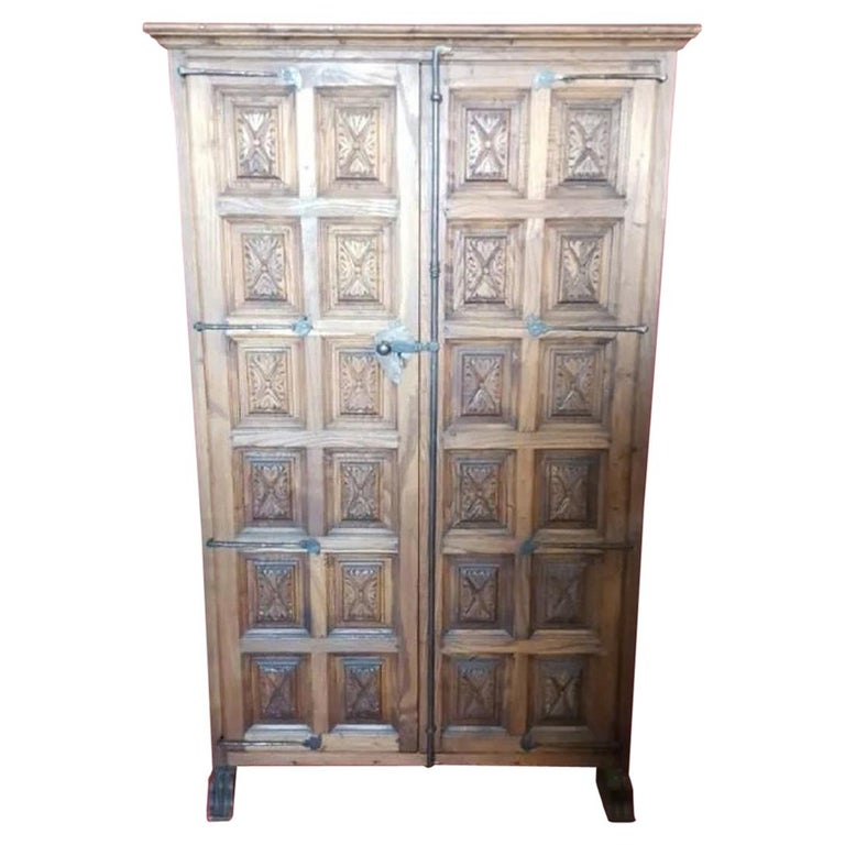 18th Century Cupboard or Cabinet, Walnut, Castillian Influence, Spain Restored For Sale