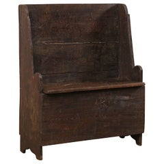 18th Century Cute Little Butler's Hall Bench with Storage from Italy