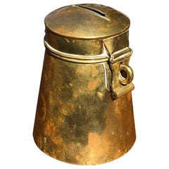 18th Century Danish Brass or Money Box