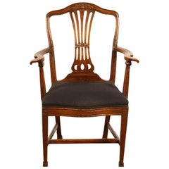 18th Century Danish Country Elm Armchair