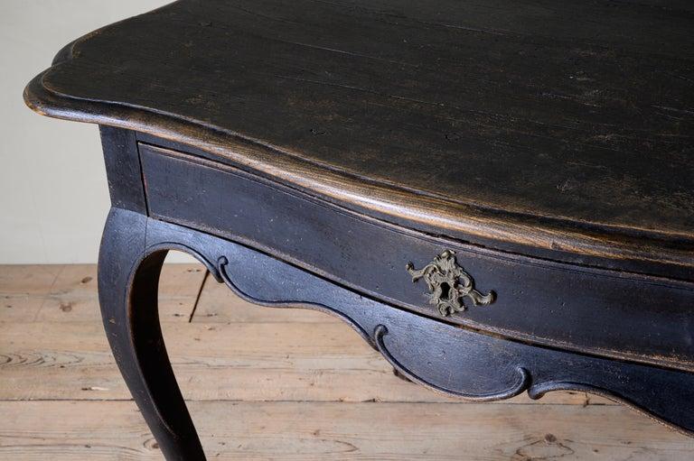 18th Century Danish Rococo Writing Desk For Sale 3