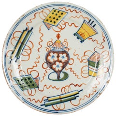 18th Century Delft Ceramic Plate