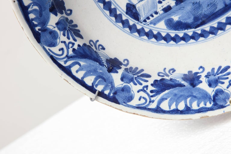 Dutch 18th Century Delft Charger For Sale