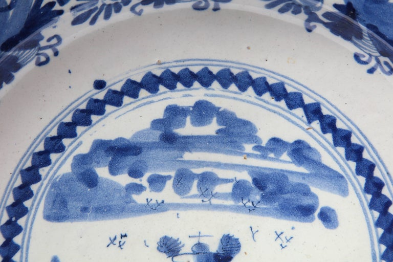 18th Century Delft Charger For Sale 1