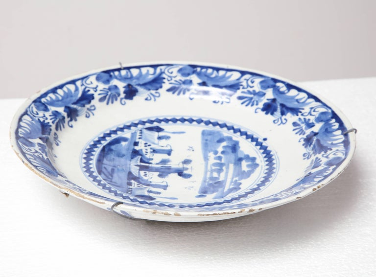18th Century Delft Charger For Sale 3