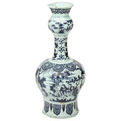 18th Century Delft Painted Vase
