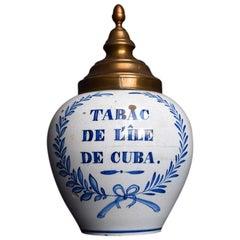 18th Century Delft Tobacco Jar