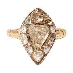 18th Century Diamond Mounting Reset on Edwardian 14k Band
