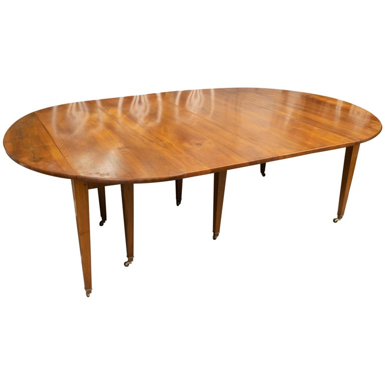 18th Century Directoire Walnut Extension Table For Sale