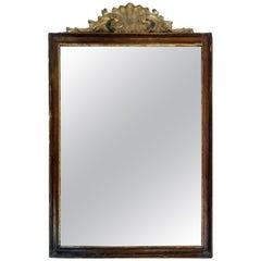 19th Century Italian Directoire style mirror with original mercury mirror glass