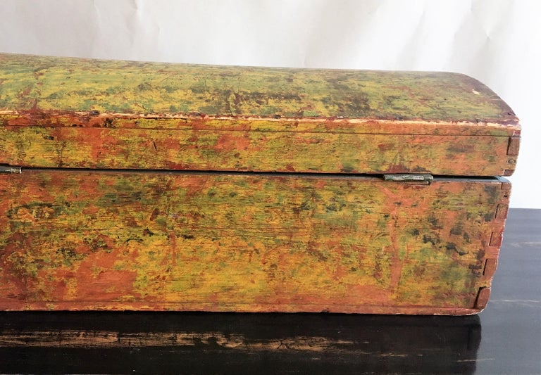 Pine 18th Century Dome Top Box For Sale